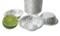 "disposable aluminum foil 3"" mini pie pan, pie tin, tart pan, small baking pan"