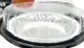 "disposabe 2 piece plastic 6"" pie pan container"