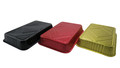 Disposable Colored Aluminum Foil 4½  Lb. Carryout Pan with Board Lid #52180L