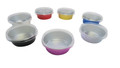 5 oz. Colored Foil Baking Cups with Plastic Lid    #A41P