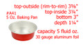 disposable aluminum foil 5 oz. mini baking pan,  dessert cup, individual serving size food serving cup