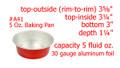 disposable aluminum foil 5 oz. mini baking pan,  dessert cup, individual serving size food serving cup