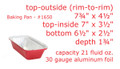 1½ lb. Closable Foil Loaf Pan with Colored Board Lid  #1650L