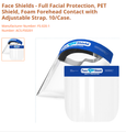 Full Face shields for Virus Protection - 2 pack