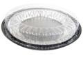 """10"""" pie container - a 2 piece plastic set"""