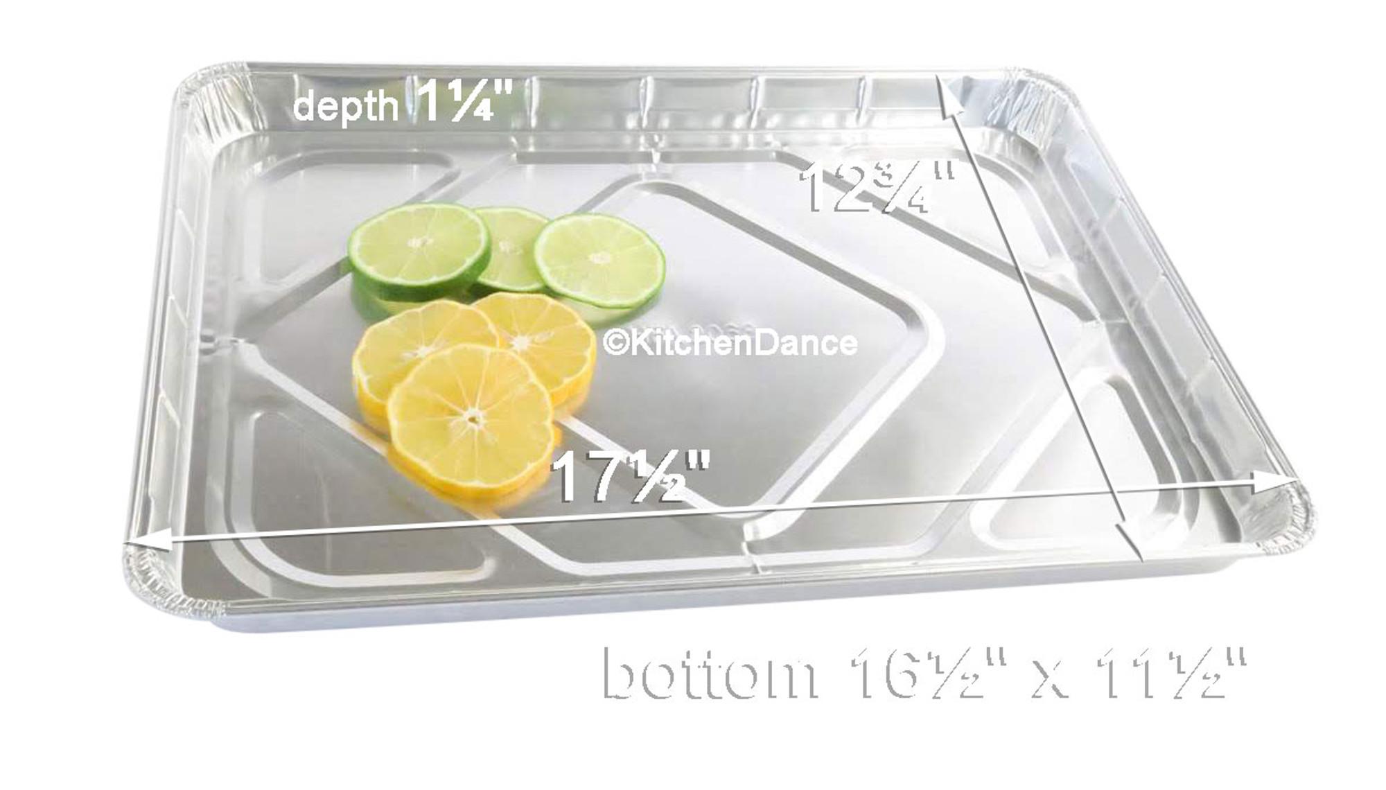 Disposable Aluminum Foil Baking Trays Handi-Foil Half 1//2 Size Sheet Cake Pan