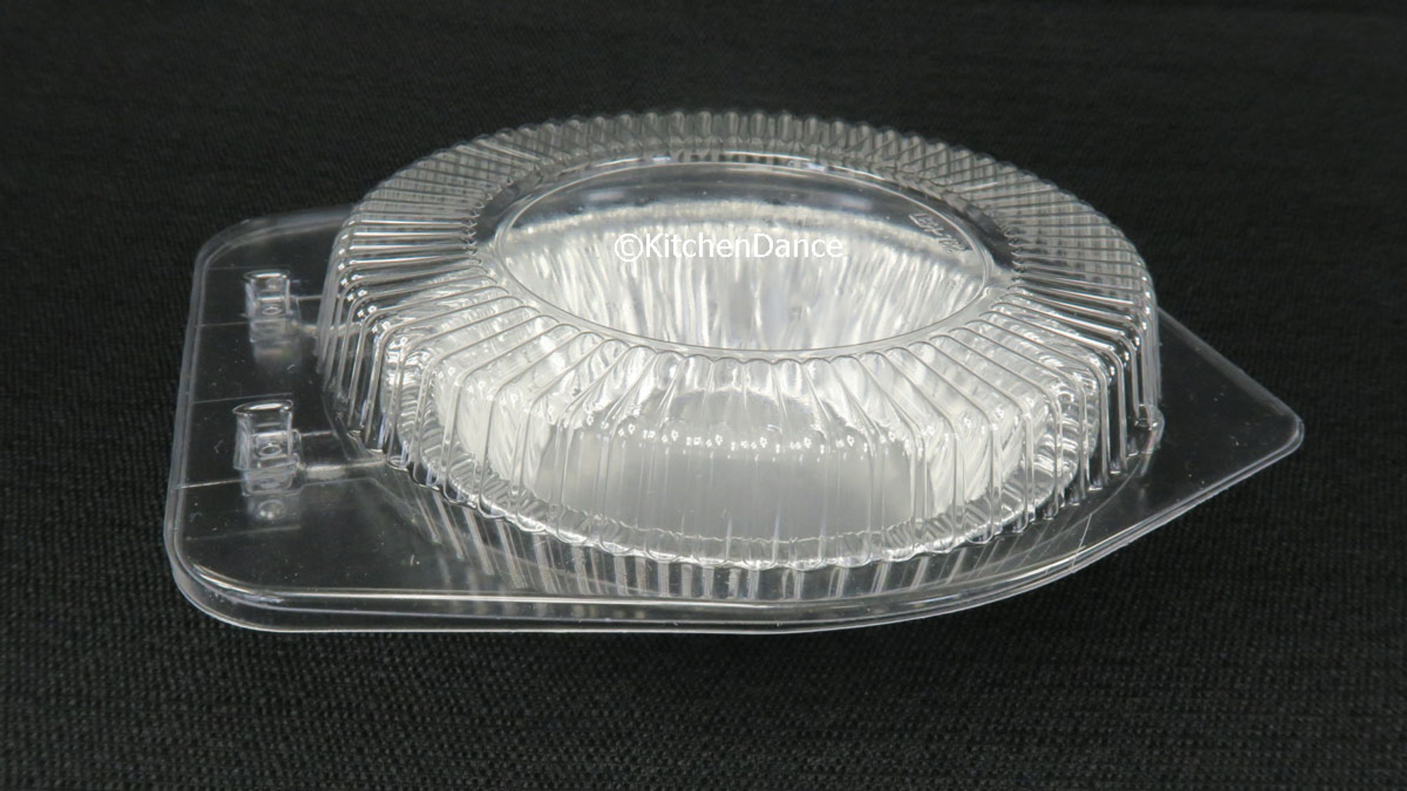 5 Aluminum Pie or Tart Pan Combo with Dome Lids Pack of 25 pans and 25 Lids Safca 501P
