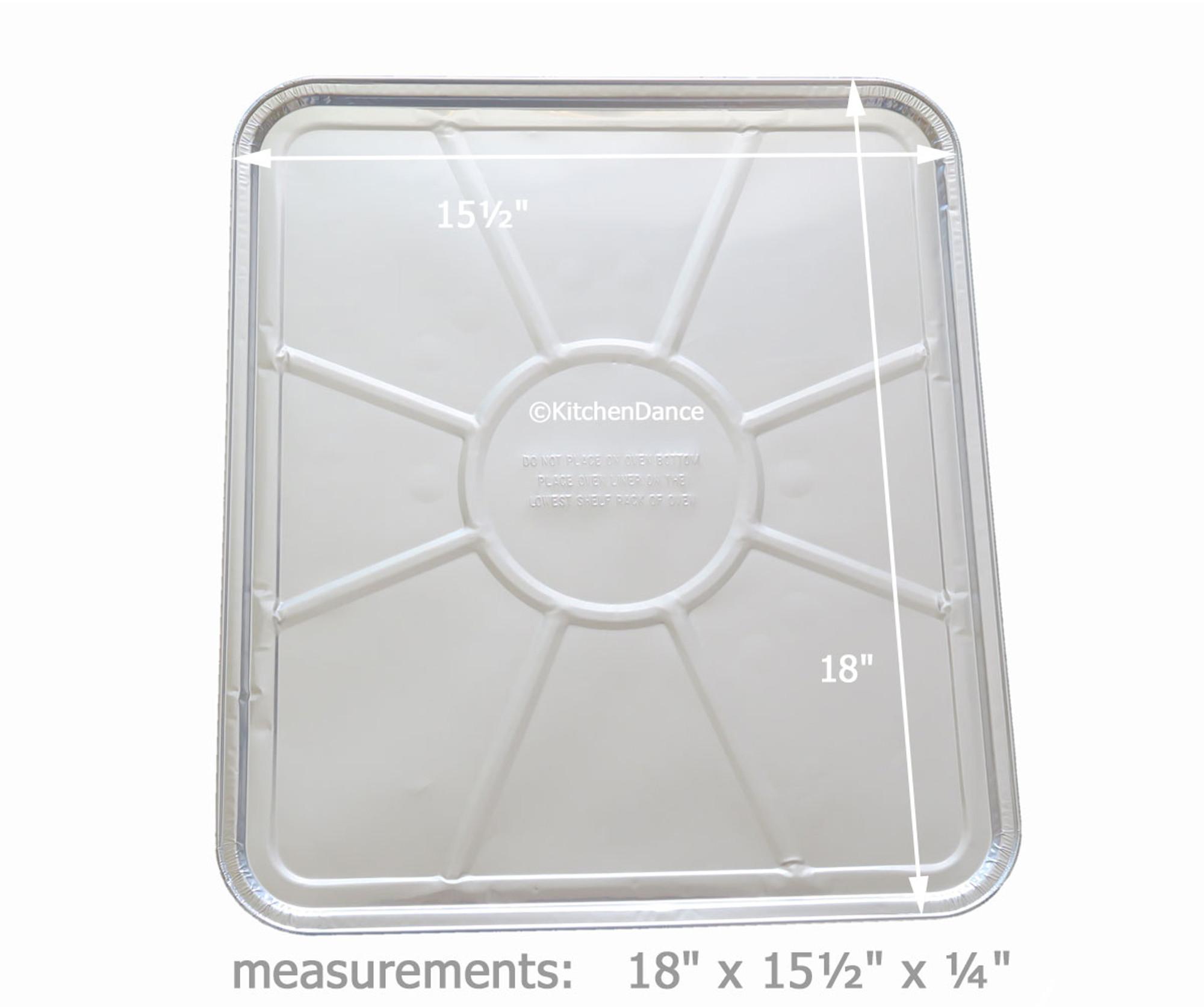 Durable Packaging Square Gas Disposable Foil Burner Bib #6100 25