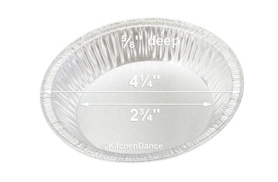 "disposable aluminum foil 4¼""  tart pan, pie tin, mini pie pan, small baking pan"