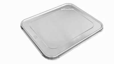 disposable aluminum foil lids for half-size steamtable pans