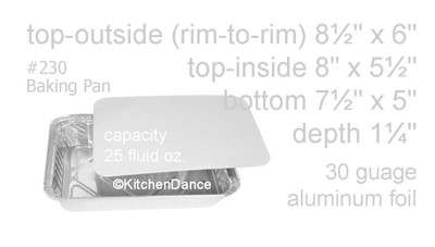 1½ lb. Shallow Carryout Foil Pan with Board Lid  #230L