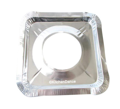 disposable aluminum foil square gas stove burner bib
