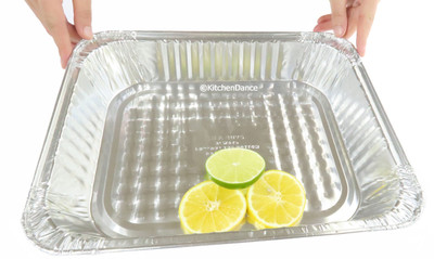 gauge aluminum foil half size steam table baking pan - medium depth