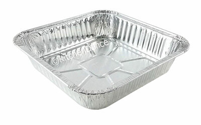 "9"" Disposable Aluminum Square Foil Cake Pan #1100NL"