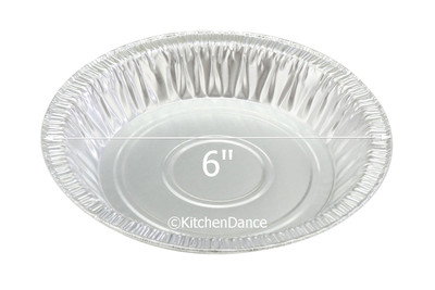 "disposable aluminum foil 6"" pie pan, - shallow baking pans"