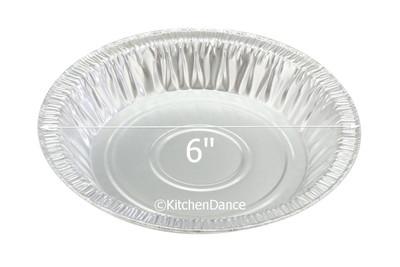 """disposable aluminum foil 6"""" pie pan, - shallow baking pans"""