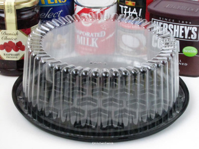 "clear plastic 8"" cake container"