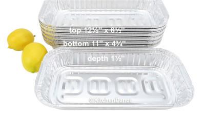 disposable aluminum foil 3 pound carryout/takeout pans, baking pans, food containers
