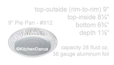 """disposable aluminum foil 9"""" pie pans - deep baking pans"""