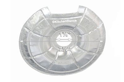 disposable aluminum foil bib for electric burners
