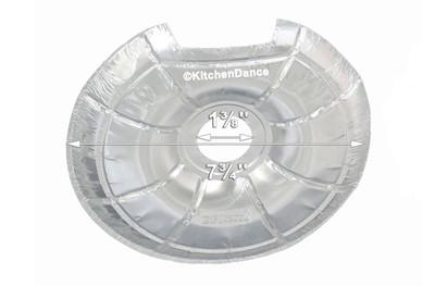 disposable aluminum foil bib for electric burners