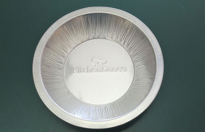 "disposable aluminum foil 6"" pie pan heavy weight, heavy-duty, heavy foil baking pan"
