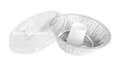 disposable aluminum foil angel food cake pan, baking pan, food container