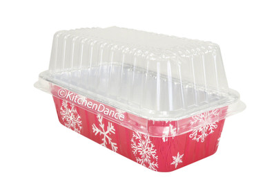 disposable aluminum foil 2 lb. loaf pans with lid, Chistmas holiday baking, food container with plastic lid