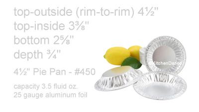 """disposable aluminum foil 4½"""" tart pan, pie tin, mini pie pan, small baking pan"""