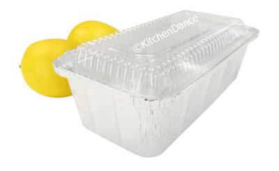 disposable aluminum foil 2 lb. loaf pan, baking pan, food storage container with plastic lid