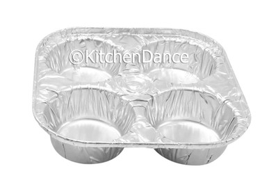 Disposable Large 4-Cup Texas Muffin Aluminum Foil Pan, baking pan