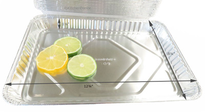 Disposable Aluminum  1/4 Size Foil Sheet Cake Pan