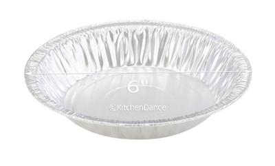 "disposable aluminum foil 6"" pie pan, baking pan - standard depth"