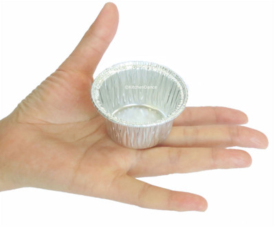 disposable aluminum foil 2 oz.  individual serving size