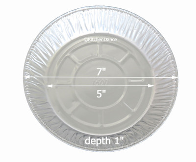 "disposable aluminum light-foil 7"" pie pan, pie tin"