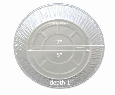 """disposable aluminum light-foil 7"""" pie pan, pie tin"""