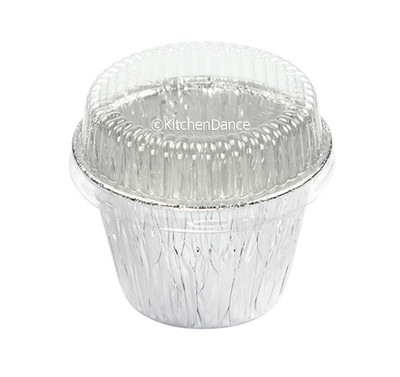disposable aluminum foil 7 oz dessert cup, deep baking cup, baking cup with plastic lid