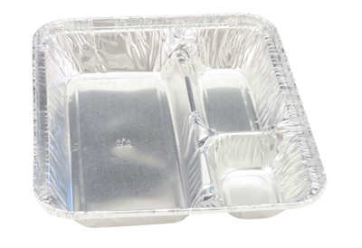 Extra Large Disposable 3 Compartment Tray with Board Lid   #2345L
