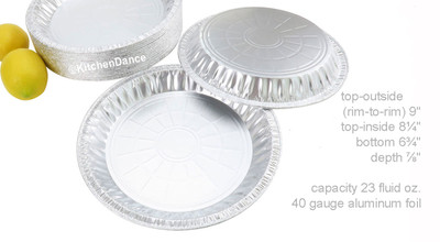 "disposable aluminum foil9"" pie pan, medium depth baking pan"