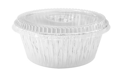 """disposable aluminum foil 10"""" round all purpose baking pan, deep large size storage food container"""