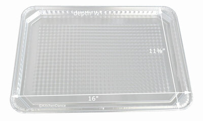 Disposable Aluminum Foil Waffle-Bottom Cookie Sheet