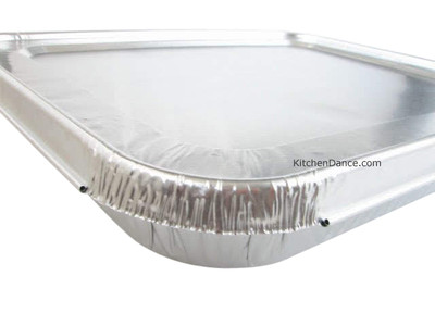 disposable aluminum foil 1/2 size steam table pan with foil Lid - medium depth