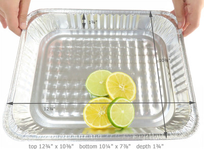 disposable aluminum foil half size steam table baking pan - shallow