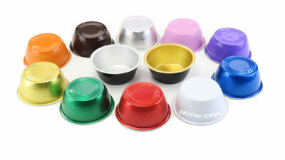 disposable aluminum foil 4 oz. ramekins, individual serving size dessert cup, baking pans