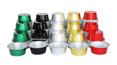 disposable aluminum foil 1½ oz. mini dessert cups, baking cups