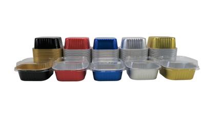 disposable aluminum foil 11oz. cups/pans with lids, holiday baking, dessert cups