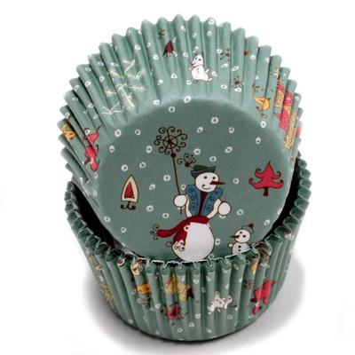 100 Count (2 packs) Christmas Snowmen Cupcake Liners
