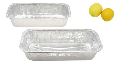 disposable aluminum foil 3 lb. loaf pan, baking pan, food containers