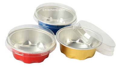 disposable aluminum foil 2 oz. mini baking pan, dessert cup, individual serving size food serving cup