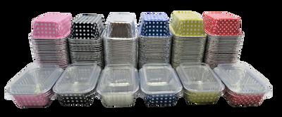 Mini Loaf Pan with Lid- 6 fluid oz. - Disposable Colored Foil  #4004P